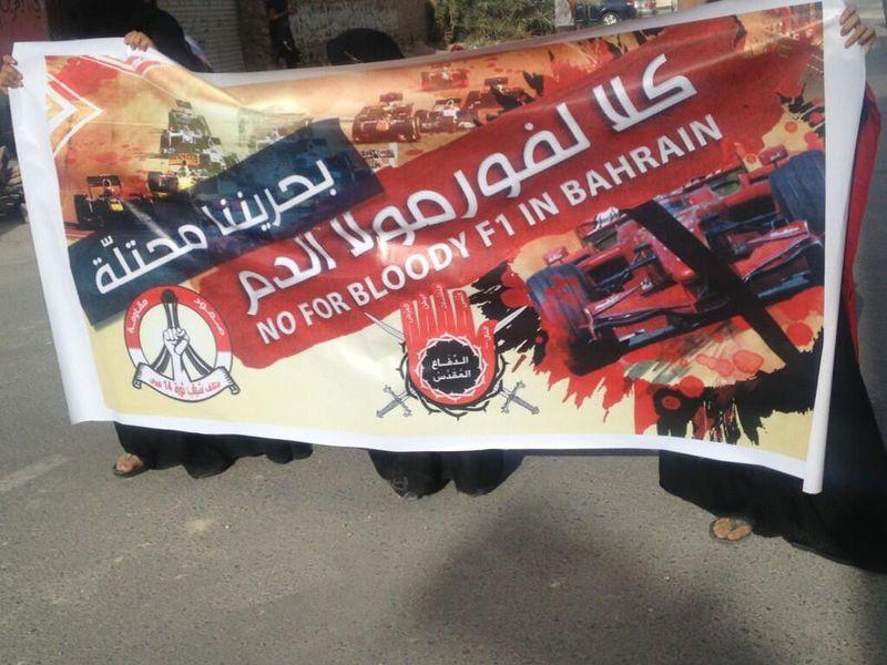Sale in Bahrain la protesta sciita contro la disputa del Gran Premio di domenica.