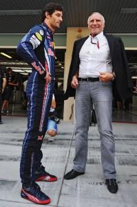Dietrich Mateschitz e Mark Webber.