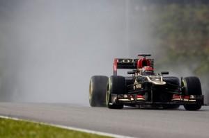 Kimi Raikkonen (Lotus E21) al GP della Malesia.