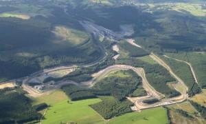 Il sinuoso tracciato della pista di Spa-Francorchamps.