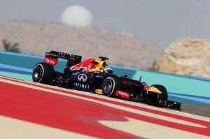 Sebastian Vettel (Red Bull), vincitore del GP del Bahrain 2013.