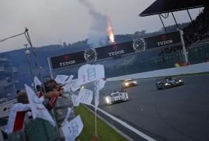 L'arrivo della Audi R18 e-tron quattro vincitrice delal 6 Ore di Spa.