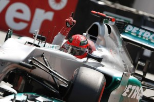 Nel 2012 Michel Schumacher e la Mercedes sono stati i più veloci nelle qualifiche per il GP di Monaco-Montecarlo.