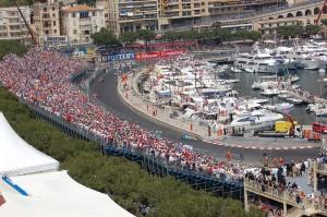 Una vista caratteristica del GP di Monaco-Montecarlo.