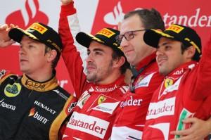 Il podio del GP di Spagna 2013.