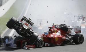 Incidente come quello al GP del Belgio del 2012 sarebbe costato a Romain Grosjean tre punti.