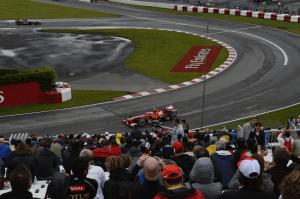 """Felipe Massa all'uscita del """"tornante a forcella"""""""