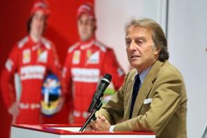 Luca Montezemolo, presidente della Ferrari.