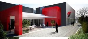 La nuova ala del Museo Ferrari a Maranello