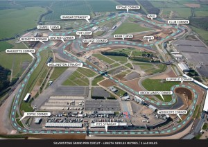 La pista di Silverstone, teatro del Gran Premio di Gran Bretagna