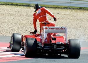Ennesimo ritiro di felipe Massa al GP di Germania.