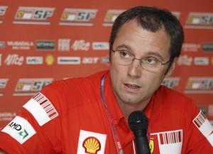 Stefano Domenicali, responsabile della Scuderia Ferrari F1