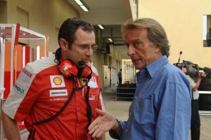 Luca Montezemolo, presidente della Ferrari, con Stefano Domenicali.