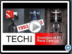 F1: evoluzione del telaio dal 1993 al 2013