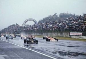La partenza del Gran Premio di Fuji del 1976
