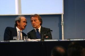 Carlo Edoardo Valli assieme a Luca Montezemolo.