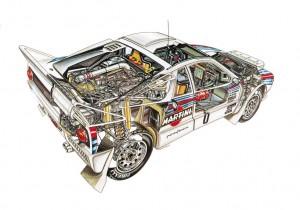 Lancia Rally 037 del 1983.