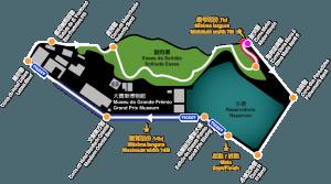 Il tracciato della pista del GP di Macao di F3.
