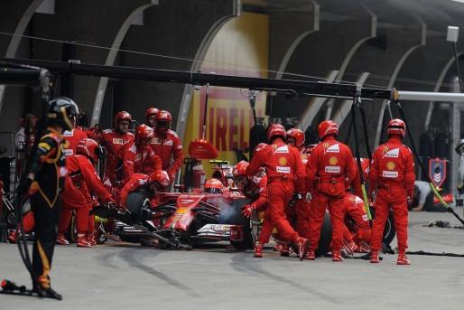 Pit stop di Kimi Raikkonen al Gran Premio di Cina.
