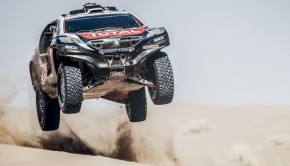Stephane Peterhansel performs during the Peugeot test in Arfoud, Morocco, on June 17th, 2015