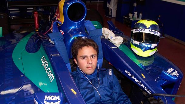 Un giovanissimo Felipe Massa, pilota Dell'International Draco team nel 2001 quando vinse il titolo dell'Euro Formula 3000.