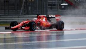 GP Usa 2015 Sebastian Vettel nelle qualifiche penalizzate dal maltempo
