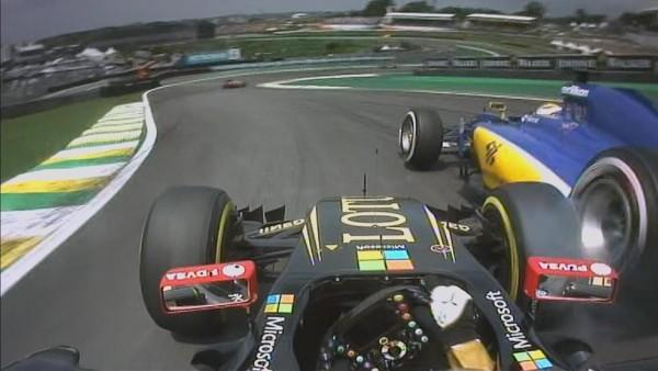 GP del Brasile 2015 la ruotata di Maldonado ad Ericsson
