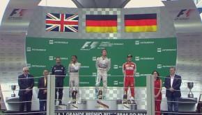 Il podio del GP del Brasile 2015