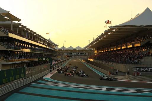 Rosberg in testa al via del GP Abu habi 2015