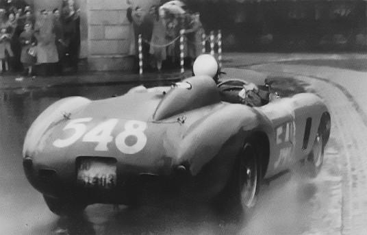 Mille Miglia 1956 Eugenio Castellotti su Ferrari 290 MM