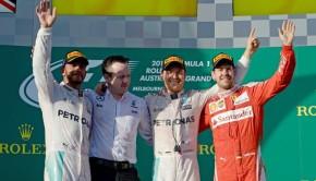 Il podio dell'F1 Australia 2016