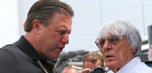 Zak Brown e Bernie Ecclestone.