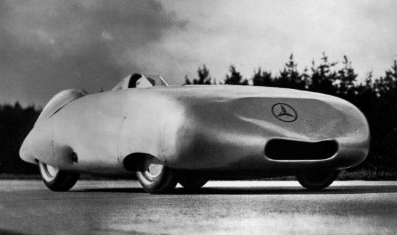 La Mercedes W25 da record utilizzata da Rudolf Caracciola nel 1936.