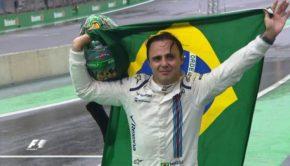 Massa saluta i tifosi al GP del Brasile