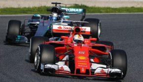 Ferrari e Mercedes ai test a Barcellona
