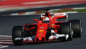 Ferrari ai test F1 a Barcellona