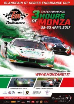 Locandina della 3 Ore di Monza 2017
