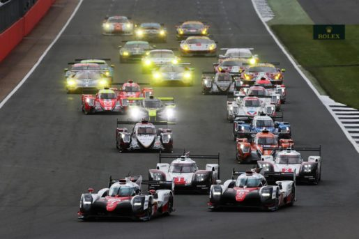The start of the race. TOYOTA GAZOO Racing. World Endurance Championship. 6 Hours of Silverstone. 13th to 17th April 2017. Silverstone, UK