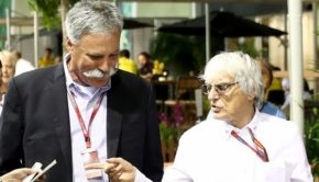 Chase Carey di Media Liberty e Bernie Ecclestone