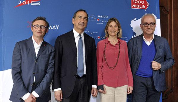 Conferenza stampa di presentazione della Mille Miglia a Milano